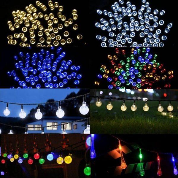 200 LED Solar Power Fairy Garden Lights String White Lamp Outdoor Wedding Xmas